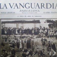 Coleccionismo de Revistas y Periódicos: LA VANGUARDIA 6 DICIEMBRE 1933 LA FIESTA DEL ARBOL EN TARRAGONA VER FOTOS. Lote 14180970