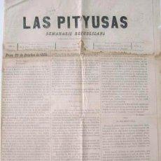 Coleccionismo de Revistas y Periódicos: LAS PITYUSAS / SEMANARIO REPUBLICANO / Nº 3 / 25.10.1885 / IBIZA - EIVISSA. Lote 26875583