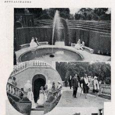 Coleccionismo de Revistas y Periódicos: BARCELONA 1930 HORTA EL LABERINTO REY ALFONSO VISITA HOJA REVISTA. Lote 14313025