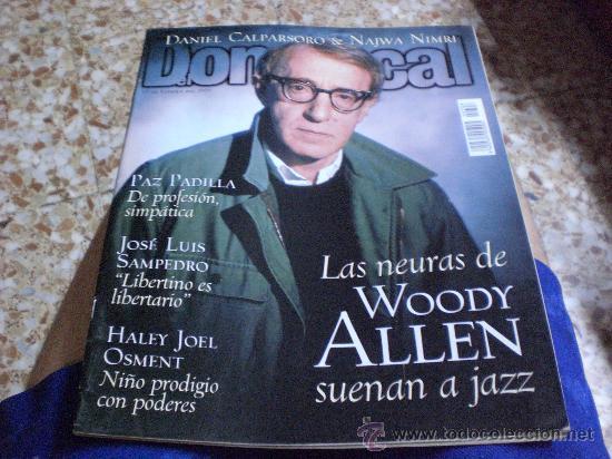 REVISTA DOMINICAL PORTADA WOODY ALLEN FEBRERO 2000 (Coleccionismo - Revistas y Periódicos Modernos (a partir de 1.940) - Otros)