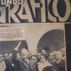 Coleccionismo de Revistas y Periódicos: MUNDO GRAFICO 6 ABRIL 1932 MADRID-BARCELONA-ANTEQUERA-MURCIA-CARTAGENA-MALLORCA VER FOTOS. Lote 14387987