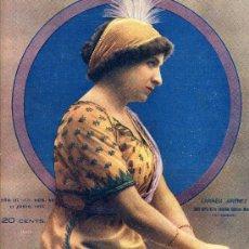Coleccionismo de Revistas y Periódicos: CARMEN JIMENEZ 1913 ACTRIZ HOJA PORTADA REVISTA. Lote 194520322
