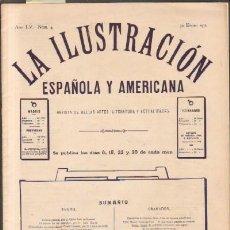 Coleccionismo de Revistas y Periódicos: LA ILUSTRACION ESPAÑOLA Y AMERICANA. REVISTA DE BELLAS ARTES, LITERATURA Y ACTUALIDADES. 1911. Lote 14619709