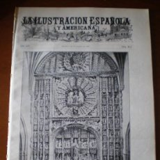 Coleccionismo de Revistas y Periódicos: ILUSTRACION ESPAÑOLA/AMERICANA (08/11/10) BURGOS MADRID REY SANIDAD MILITAR TEATRO BELLAS ARTES. Lote 26307939