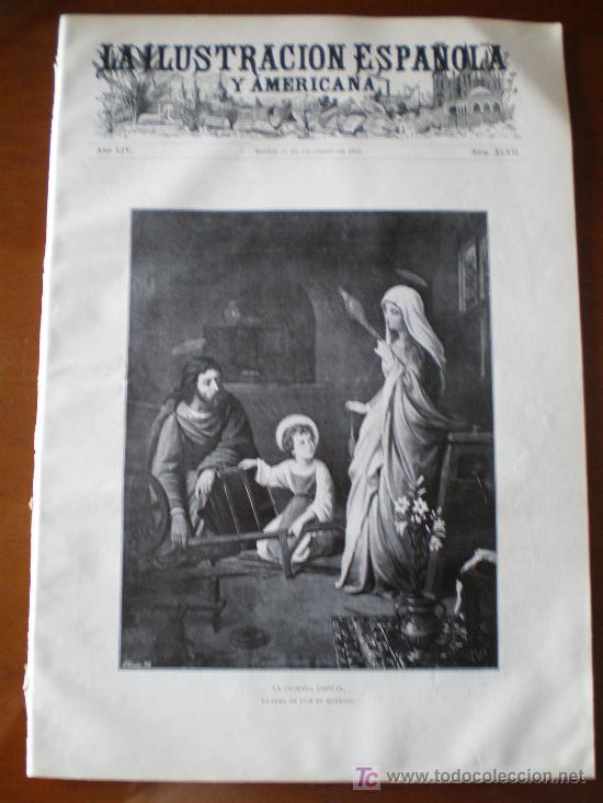 ILUSTRACION ESPAÑOLA/AMERICANA (22/12/10) NAVIDAD MADRAZO BLANCO-BELMONTE VILLANCICOS PAVO ESCORIAL (Coleccionismo - Revistas y Periódicos Antiguos (hasta 1.939))