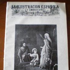 Coleccionismo de Revistas y Periódicos: ILUSTRACION ESPAÑOLA/AMERICANA (22/12/10) NAVIDAD MADRAZO BLANCO-BELMONTE VILLANCICOS PAVO ESCORIAL . Lote 34517223