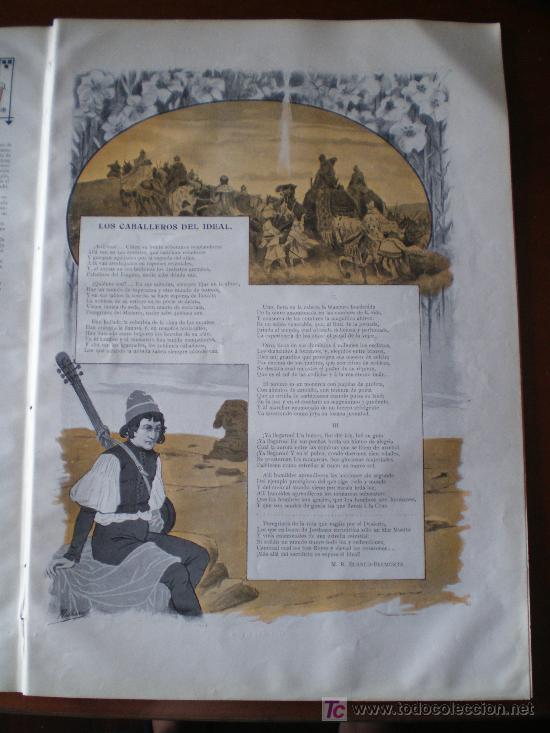 Coleccionismo de Revistas y Periódicos: PAGINA ILUSTRADA: LOS CABALLEROS DEL IDEAL , DE M.R. BLANCO-BELMONTE - Foto 2 - 34517223