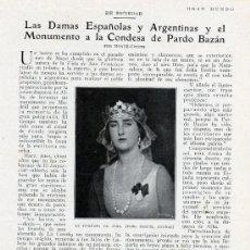 Coleccionismo de Revistas y Periódicos: DUQUESA DE ALBA -PARDO BAZAN 1926 2 HOJAS REVISTA. Lote 14673623