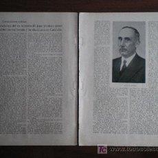 Colecionismo de Revistas e Jornais: RECORTE DE PRENSA 1934 - CONVERSACIONES CON D. JUAN VENTOSA (NACIONALISMO CATALUÑA). Lote 14746554