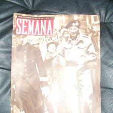 Coleccionismo de Revistas y Periódicos: REVISTA SEMANA , 28 SETIEMBRE 1943 NÚM 188 AÑO IV. . Lote 27243190
