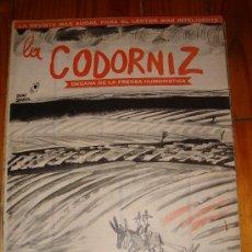 Coleccionismo de Revistas y Periódicos: LA CODORNIZ Nº 1294 AÑO 1966. Lote 27235972