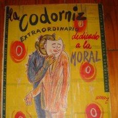 Coleccionismo de Revistas y Periódicos: LA CODORNIZ EXTRAORDINARIO DEDICADO A LA MORAL Nº 959 AÑO 1960. Lote 27391804