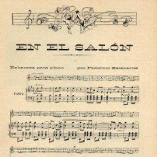 Coleccionismo de Revistas y Periódicos: MUSICA 1908 PARTITURA HABANERA 2 HOJAS REVISTA. Lote 15104577