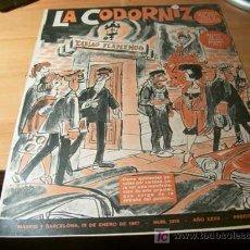Coleccionismo de Revistas y Periódicos: LA CODORNIZ . Nº 1313 ( 15 - ENERO - 1967 ). Lote 15110072