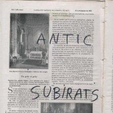Coleccionismo de Revistas y Periódicos: ILUSTRACION CATOLICA AÑO 1906.REPORTATGE SOBRE L' ESGLESIA ROMANICA DE SANT MARTI SARROCA.. Lote 15156178