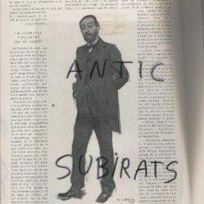 Coleccionismo de Revistas y Periódicos: ILUSTRACIO CATALANA.DOCTOR B.ROBERT. RAMON CASAS.NARCIS OLLER.PALMA.BRULL.TORTOSA. LLEYXA.SALA PARES. Lote 15236192