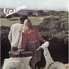 Coleccionismo de Revistas y Periódicos: PUBLICIDAD ANUNCIO DE MOTO VESPA. AÑOS 60. Lote 15252254