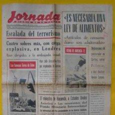 Coleccionismo de Revistas y Periódicos: JORNADA. DIARIO DE LA TARDE. Nº 9693. SEPTIEMBRE 1972. VALENCIA. Lote 15448150