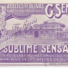 Coleccionismo de Revistas y Periódicos: ACEITE DE OLIVA 1909 G.SENSAT BARCELONA RETAL REVISTA. Lote 23235830