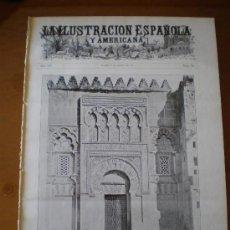 Coleccionismo de Revistas y Periódicos: ILUSTRACION ESPAÑOLA/AMERICANA (08/03/11) CORDOBA VELAZQUEZ CANOA ESCORIAL BRINGA CARNAVAL VALENCIA . Lote 25663349
