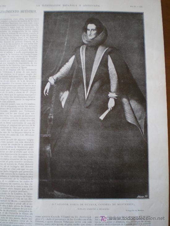 Coleccionismo de Revistas y Periódicos: Dª LEONOR MARIA DE GUZMAN, CONDESA DE MONTERREY, RETRATO ATRIBUDIO A VELAZQUEZ - Foto 2 - 25663349