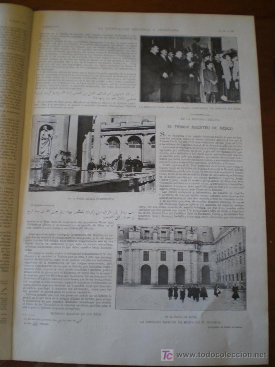 Coleccionismo de Revistas y Periódicos: LA EMBAJADA DE MEJICO EN EL ESCORIAL - Foto 4 - 25663349