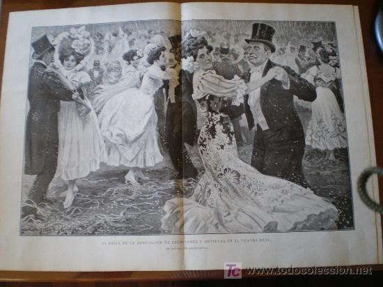 Coleccionismo de Revistas y Periódicos: EL BAILE DE LA ASOCIACION DE ESCRITORES Y ARTISTAS EN EL TEATRO REAL - Foto 5 - 25663349