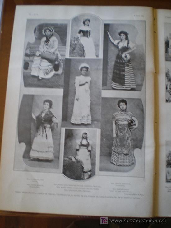 Coleccionismo de Revistas y Periódicos: FIESTA ARISTOCRATICA - BAILE DE PERCAL,CELEBRADO EN EL HOTEL DE LOS CONDES DE CASA - Foto 6 - 25663349
