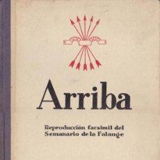 Coleccionismo de Revistas y Periódicos: REPRODUCCIÓN FACSIMIL DEL SEMANARIO DE LA FALANGE. Lote 15986337
