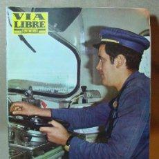 Coleccionismo de Revistas y Periódicos: REVISTA FERROVIARIA, VIA LIBRE, Nº 51, DE MARZO DE 1968, TREN, FERROCARRIL. Lote 16037009