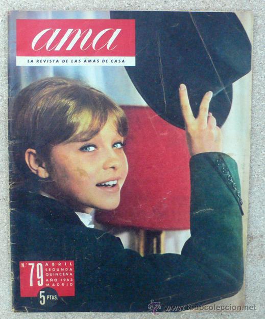 AMA, ABRIL 1963, MARISOL (Coleccionismo - Revistas y Periódicos Modernos (a partir de 1.940) - Otros)