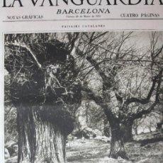 Collectionnisme de Revues et Journaux: LA VANGUARDIA 20 MARZO 1931 VILADRAU-BARCELONA-VALENCIA VER FOTOS. Lote 16235447