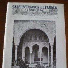 Coleccionismo de Revistas y Periódicos: ILUSTRACION ESPAÑOLA/AMERICANA (22/01/13) GRANADA GENERALIFE MARTINEZ ABADES CALBETON GIJON GAL . Lote 24133290