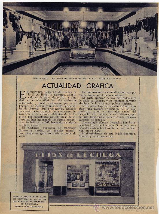 Madrid 1932 carniceria hijos de lechuga hoja re comprar - Carniceria en madrid ...