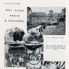 Coleccionismo de Revistas y Periódicos: TARRAGONA 1930 REY - CERVERA - HOJA REVISTA. Lote 16406594