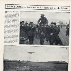 Coleccionismo de Revistas y Periódicos: AVIACION 1911 MADRID CIUDAD LINEAL HOJA REVISTA. Lote 16442096