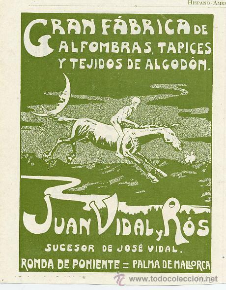 PALMA DE MALLORCA 1902 ALFOMBRAS JUAN VIDAL Y ROS RETAL REVISTA (Coleccionismo - Revistas y Periódicos Modernos (a partir de 1.940) - Otros)