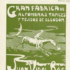 Coleccionismo de Revistas y Periódicos: PALMA DE MALLORCA 1902 ALFOMBRAS JUAN VIDAL Y ROS RETAL REVISTA. Lote 288406228