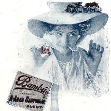 Colecionismo de Revistas e Jornais: ALCOY 1909 BAMBU PAPEL DE FUMAR R.ABAD SANTNJA RETAL REVISTA. Lote 16599848