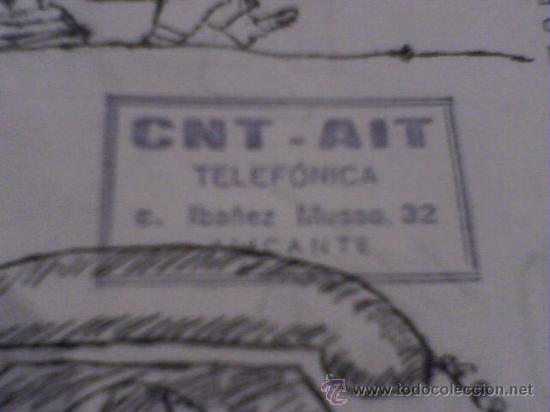 Coleccionismo de Revistas y Periódicos: HOJAS LIBRES PERIODICO ALICANTE Nº 3 1979 ABRIL CLANDESTINO CNT AIT COMIC DE PARLA - Foto 3 - 24398456