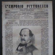 Coleccionismo de Revistas y Periódicos: EMPORIO PITTORESCO Nº 516 DE 19-2/07/1874 (GUERRA CARLISTA - MUERTE DEL MARISCAL CONCHA). Lote 27480873