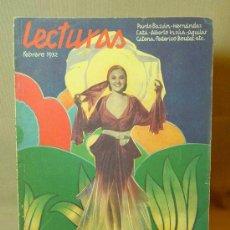 Coleccionismo de Revistas y Periódicos: REVISTA LECTURAS, FEBRERO DE 1932, Nº 129.. Lote 17320954