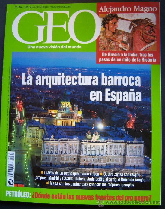 Geo n 216 arquitectura barroca en espa a pa comprar for Revistas arquitectura espana
