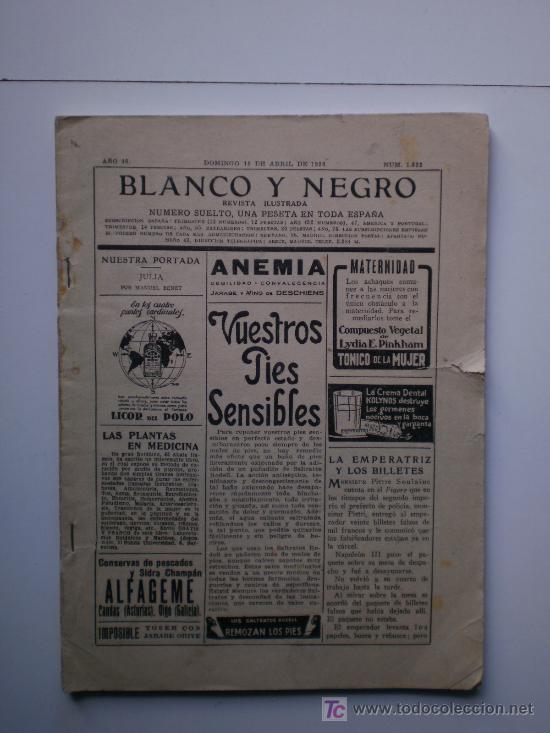 BLANCO Y NEGRO-1926 (Coleccionismo - Revistas y Periódicos Antiguos (hasta 1.939))