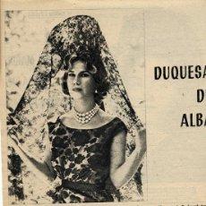 Coleccionismo de Revistas y Periódicos: DUQUESA DE ALBA 1962 HOJA REVISTA. Lote 17278843