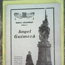 Coleccionismo de Revistas y Periódicos: LA ESCENA CATALANA , NUMERO EXTRAORDINARI DEDICAT A ANGEL GUIMERA , 1924. Lote 17378662