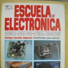 Coleccionismo de Revistas y Periódicos: REVISTA ESCUELA DE ELECTRONICA Nº 1. Lote 17384630