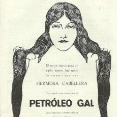 Coleccionismo de Revistas y Periódicos: PUBLICIDAD PETRÓLEO GAL - 1919. Lote 17552029