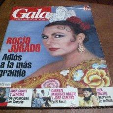 Coleccionismo de Revistas y Periódicos: REVISTA GALA MUERTE ROCIO JURADO. Lote 19488920