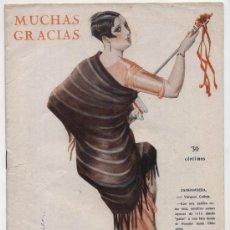 Coleccionismo de Revistas y Periódicos: MUCHAS GRACIAS Nº 204. AÑO 1928. REVISTA COMICO - SATÍRICA.. Lote 17559416